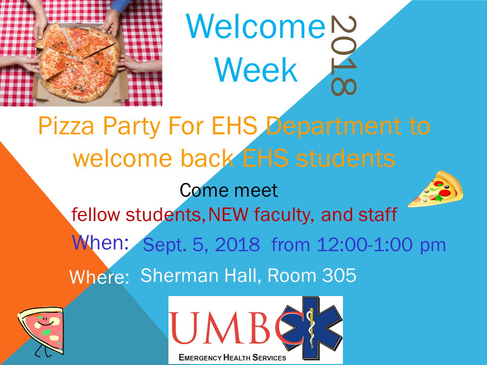 EHS Welcome back Pizza Party Social
