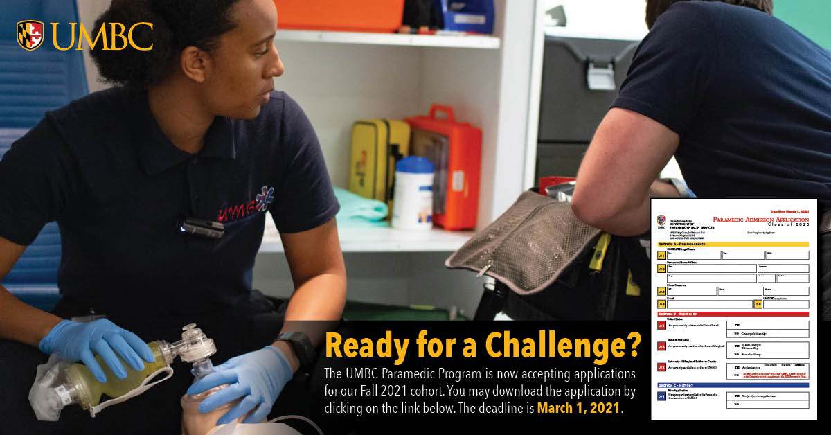 Fall 2021 Paramedic Application Available